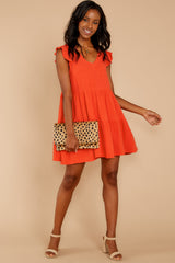 2 Touch Of Sweet Tomato Orange Dress at reddressboutique.com