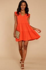 3 Touch Of Sweet Tomato Orange Dress at reddressboutique.com