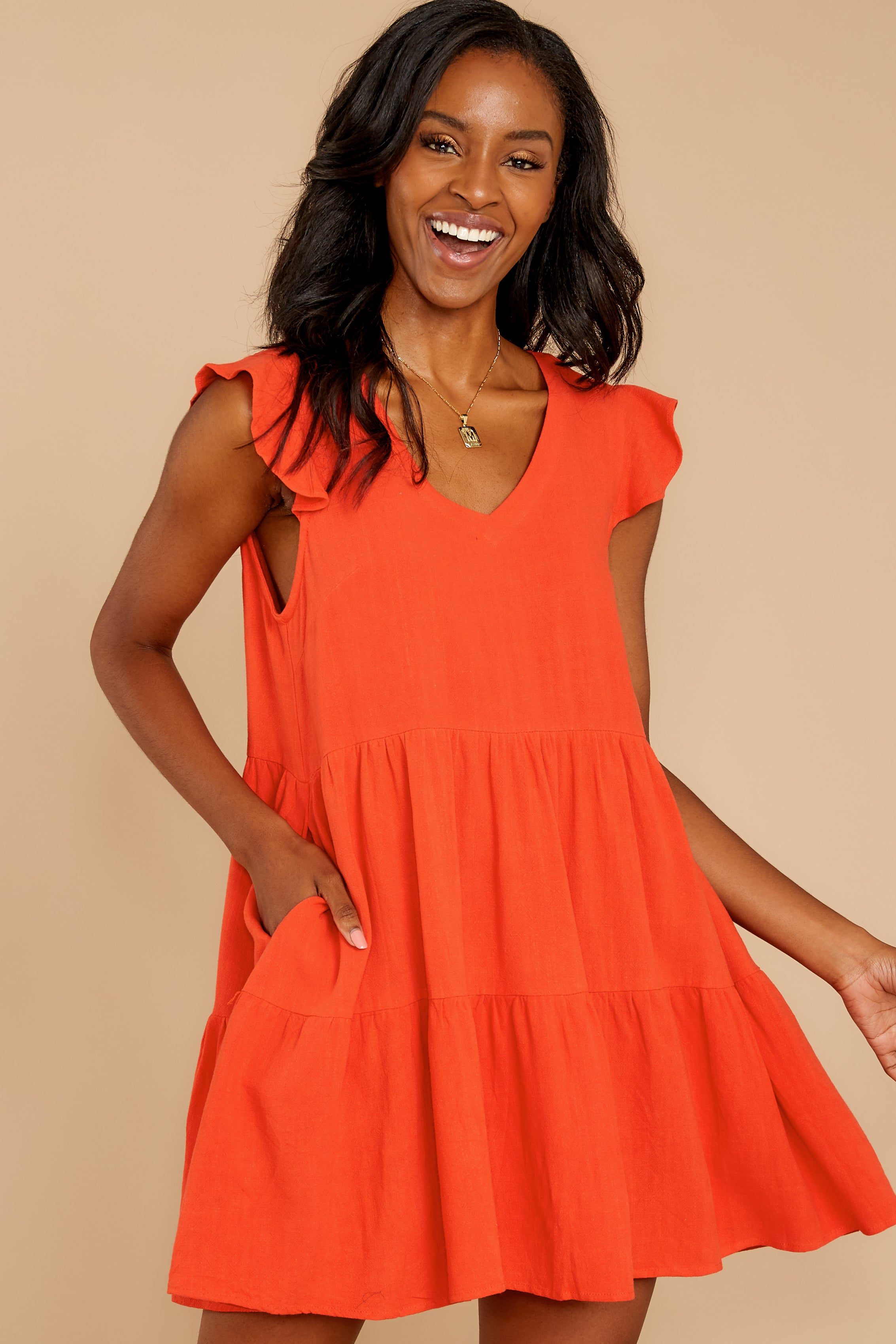 4 Touch Of Sweet Tomato Orange Dress at reddressboutique.com