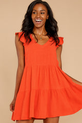 6 Touch Of Sweet Tomato Orange Dress at reddressboutique.com