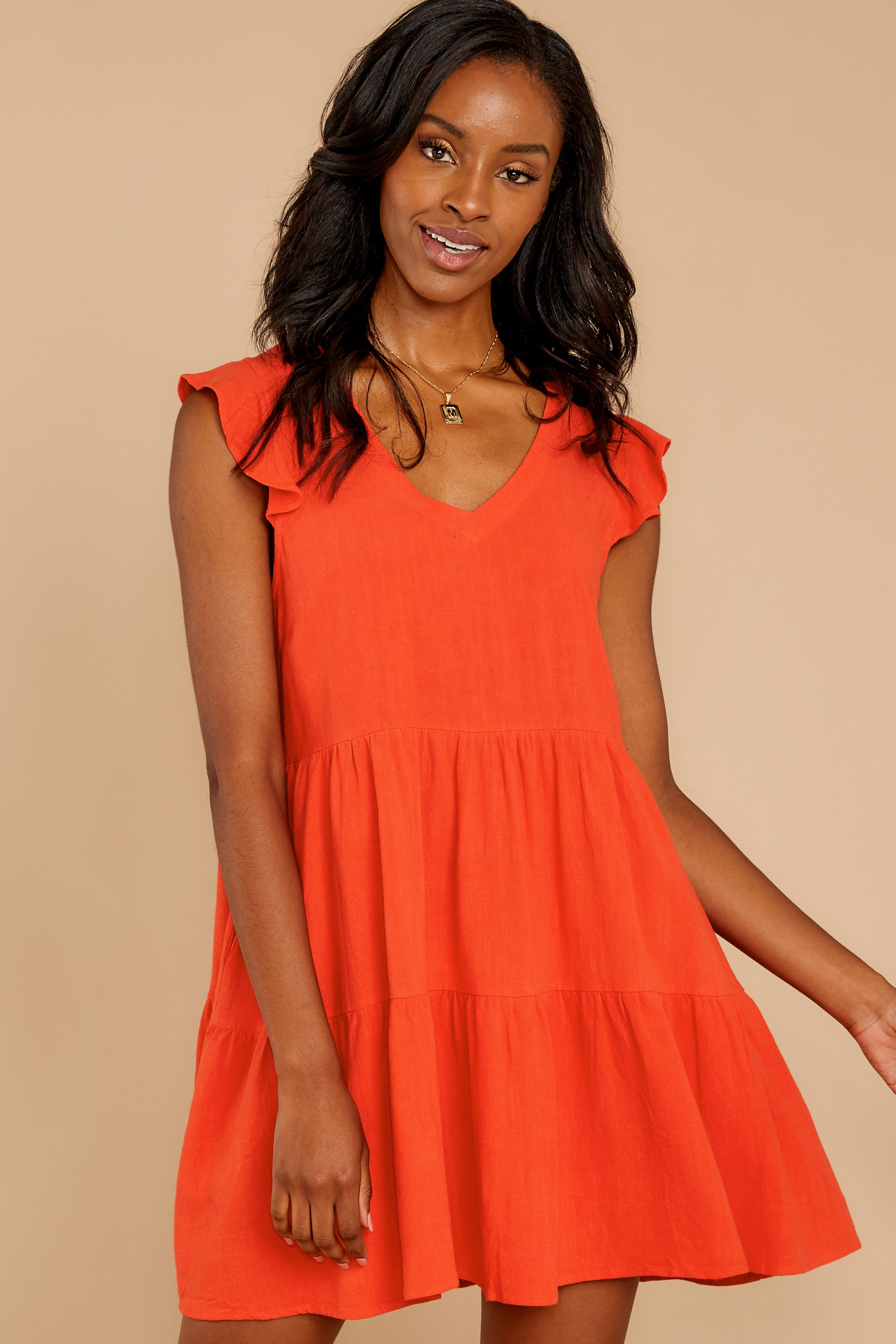 5 Touch Of Sweet Tomato Orange Dress at reddressboutique.com