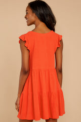 8 Touch Of Sweet Tomato Orange Dress at reddressboutique.com