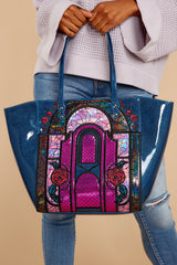 1 Beauty And The Beast Stained Glass Tote at reddressboutique.com
