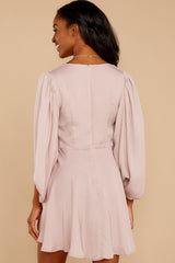 Brink Of Falling Blush Dress