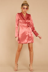 1 Business Babe Coral Blazer Dress at reddressboutique.com
