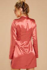8 Business Babe Coral Blazer Dress at reddressboutique.com