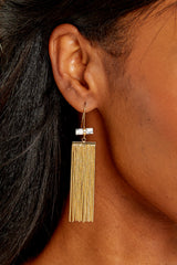 2 Celestial Marble And Gold Earrings at reddress.com