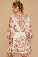 8 Romantic Dalliance Pink Floral Print Dress at reddress.com