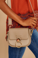 2 Break Free Taupe Crossbody Purse at reddressboutique.com