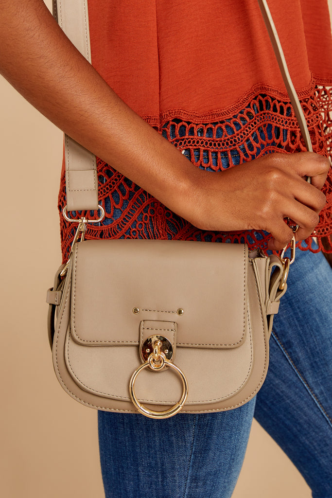 Break Free Taupe Crossbody Purse by Joia