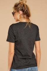 5 Tiger Dark Grey Graphic Tee at reddressboutique.com