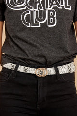 1 Start Right Here Snakeskin Belt at reddressboutique.com
