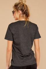 8 Cocktail Club Dark Grey Graphic Tee at reddressboutique.com