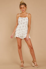1 Last Summer Night Mocha Print Romper at reddressboutique.com