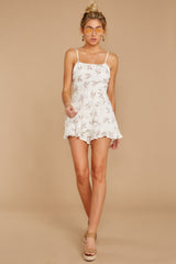 2 Last Summer Night Mocha Print Romper at reddressboutique.com
