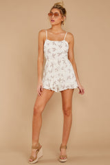 3 Last Summer Night Mocha Print Romper at reddressboutique.com
