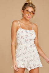 5 Last Summer Night Mocha Print Romper at reddressboutique.com