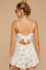 8 Last Summer Night Mocha Print Romper at reddressboutique.com