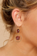 1 Bright Outlook Dark Purple Earrings at reddressboutique.com