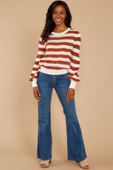 4 Off To Newport Brick Stripe Top at reddressboutique.com