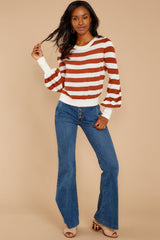 5 Off To Newport Brick Stripe Top at reddressboutique.com