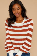 8 Off To Newport Brick Stripe Top at reddressboutique.com