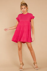 1 Nothing More Nothing Less Fuchsia Pink Dress at reddressboutique.com