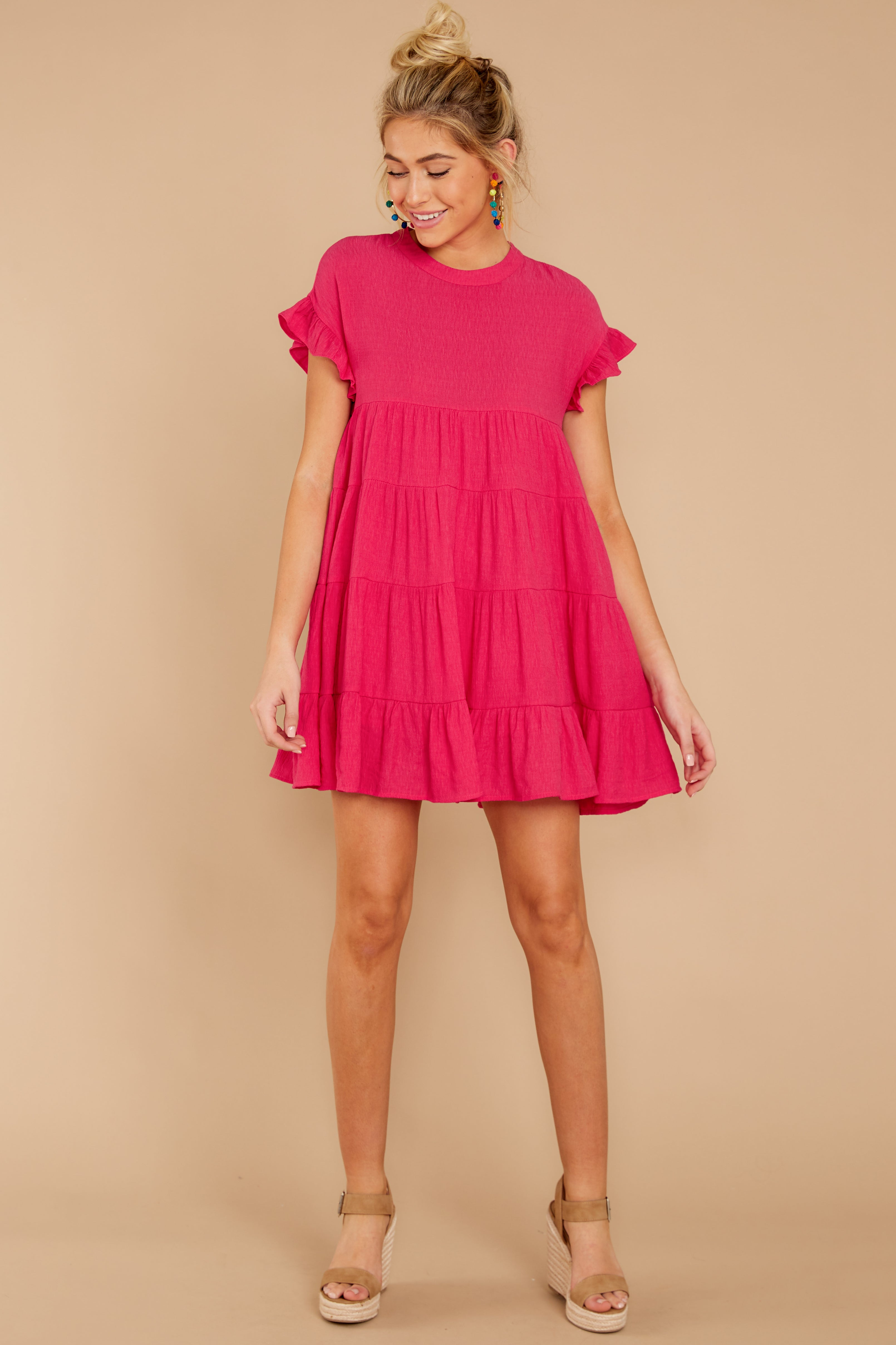 2 Nothing More Nothing Less Fuchsia Pink Dress at reddressboutique.com