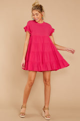 3 Nothing More Nothing Less Fuchsia Pink Dress at reddressboutique.com