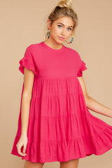 4 Nothing More Nothing Less Fuchsia Pink Dress at reddressboutique.com
