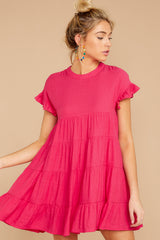 5 Nothing More Nothing Less Fuchsia Pink Dress at reddressboutique.com