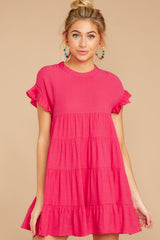 6 Nothing More Nothing Less Fuchsia Pink Dress at reddressboutique.com