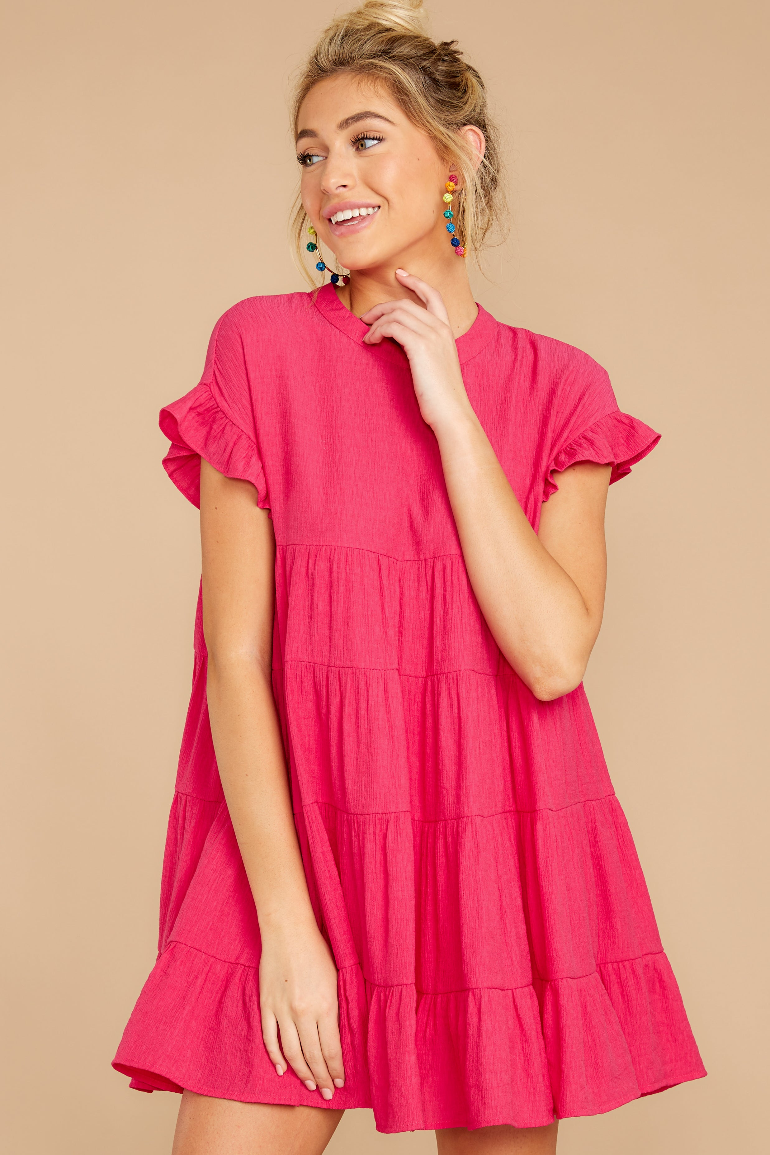 7 Nothing More Nothing Less Fuchsia Pink Dress at reddressboutique.com