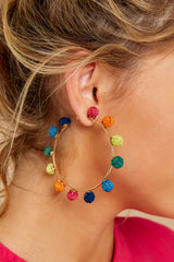 1 Your Big Chance Rainbow Earrings at reddressboutique.com