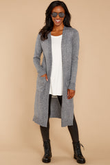 1 Holding Hands Grey Cardigan at reddressboutique.com