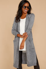 5 Holding Hands Grey Cardigan at reddressboutique.com