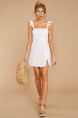 3 Clear Blue Sky White Dress at reddressboutique.com