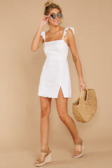 1 Clear Blue Sky White Dress at reddressboutique.com