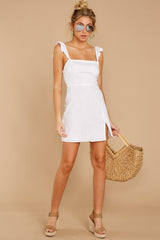 2 Clear Blue Sky White Dress at reddressboutique.com
