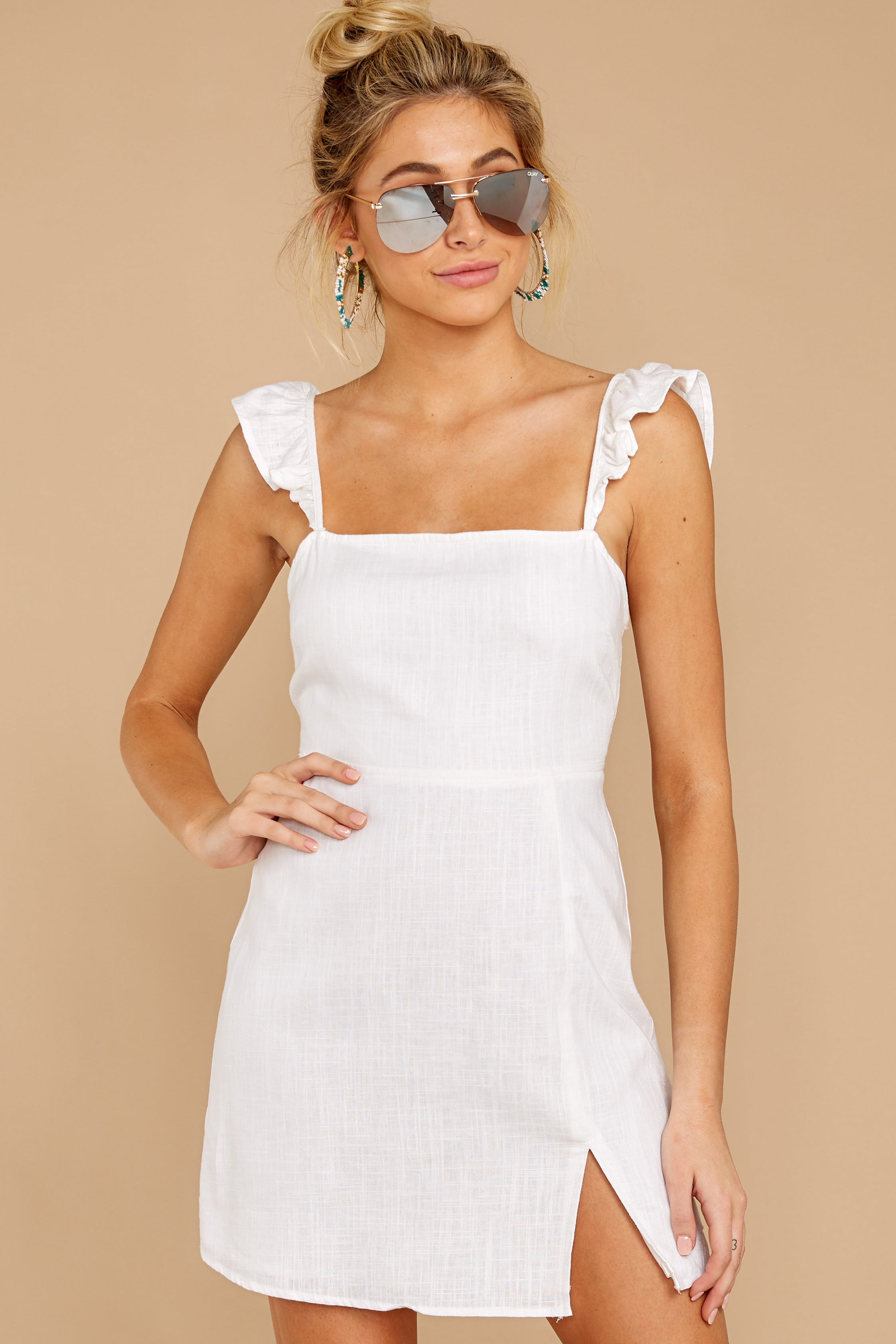 5 Clear Blue Sky White Dress at reddressboutique.com