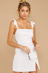 6 Clear Blue Sky White Dress at reddressboutique.com
