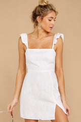 7 Clear Blue Sky White Dress at reddressboutique.com