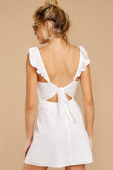 8 Clear Blue Sky White Dress at reddressboutique.com