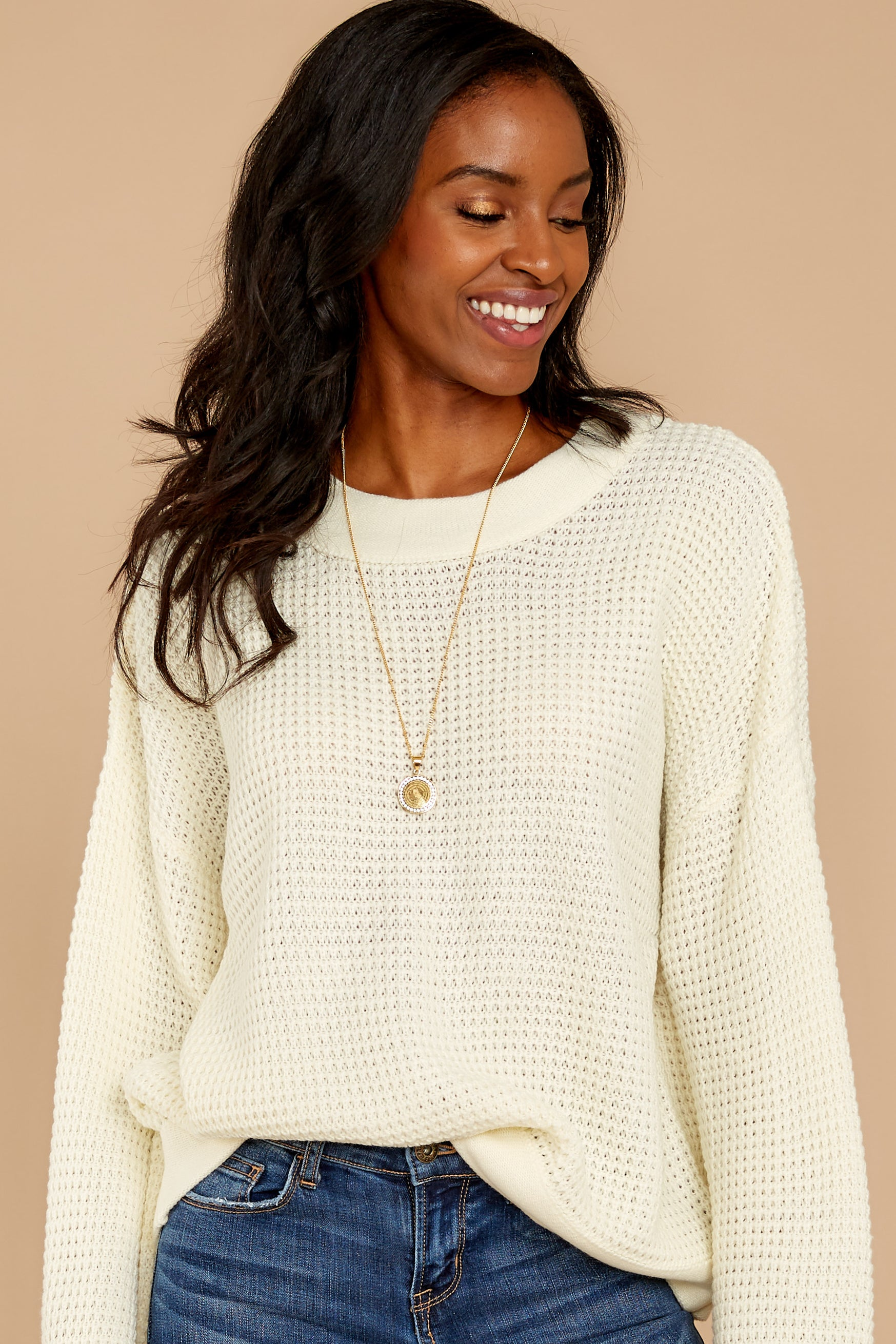 5 Cool Nights Ivory Sweater at reddressboutique.com
