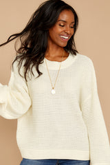 7 Cool Nights Ivory Sweater at reddressboutique.com
