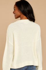 9 Cool Nights Ivory Sweater at reddressboutique.com