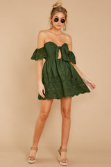 1 Dangerous Darling Rosin Green Eyelet Dress at reddressboutique.com