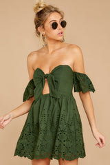 7 Dangerous Darling Rosin Green Eyelet Dress at reddressboutique.com