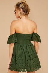 8 Dangerous Darling Rosin Green Eyelet Dress at reddressboutique.com