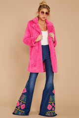 1 Show Off Neon Pink Coat at reddressboutique.com